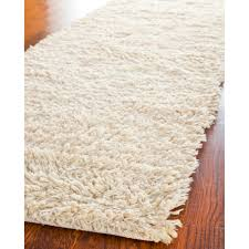 Shaggy Runner Rug Safavieh Tufted Ivory Plush Shag Wool Area Rugs Sg731a Ebay