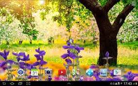 live halloween wallpapers for desktop spring nature live wallpaper android apps on google play