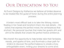 wedding planner packages event designs by katherine wedding planning packages