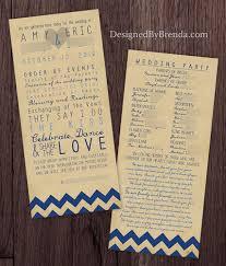 sided wedding programs gray chevron wedding programs trendy any