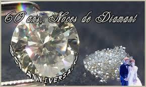 week end anniversaire de mariage carte 60 ans diamant cybercartes
