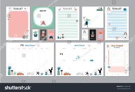 Daily Planners Templates Scandinavian Weekly Daily Planner Template Organizer Stock Vector