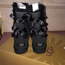 ugg s kintla boot 33 ugg boots black ugg boots with bows on the back bailey