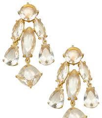 earrings new york kate spade new york chagne chandelier earrings tradesy