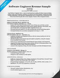 software engineer resume software engineer resume sle writing tips resume companion