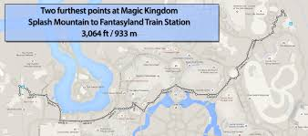 Map Walking Distance Walking Distance At The Magic Kingdom Walt Disney World