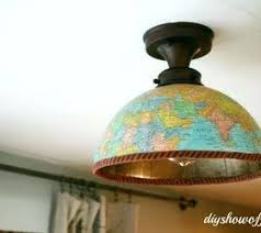 Ceiling Light Fixture Cover Diy Light Fixture Cover Transforming A Basic Light To A Drum Shade