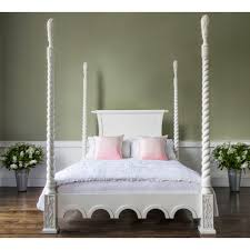 Four Post Bed by Provencal Four Poster White Bed Luxury Bed