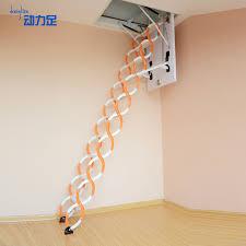semi automatic retractable attic ladder stairs villa duplex