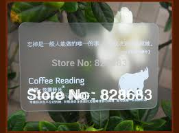Translucent Plastic Business Cards Aliexpress Com Buy One Faced White Ink Printing Transparent