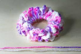 crochet hair bands hair scrunchies free crochet pattern craft