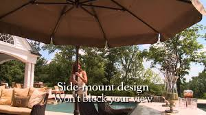 11 Cantilever Patio Umbrella With Base by 11 Ft Round Side Mount Umbrella Youtube