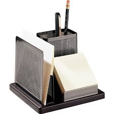 Rolodex Desk Accessories Gunmetal Black Metal Wood Desktop Organizer Quill