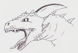 how to draw a dragon head easy pencil drawing collection