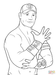 john cena coloring page free printable wwe coloring pages for kids