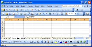 sort your worksheet tabs automatically even dates