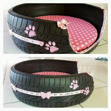 Dog Bed With Canopy Tire Dog Bed Old Dog Pinterest Dog Beds Dog And Doggies