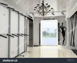 Modern Shop Interior Design Project D Stock Illustration - Modern boutique interior design