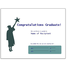 congratulatory graduation certificates free downloads for ms word