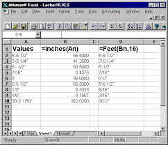 Conversion Of Feet And Inches To Decimal Values