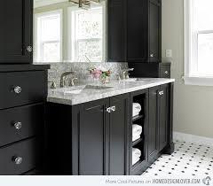 Black Bathroom Cabinet 15 Black Bathroom Vanity Sets Home Design Lover Custom Black