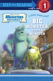 step reading big monster monster disney pixar