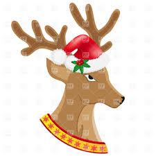christmas deer in santa u0027s hat vector image 19294 u2013 rfclipart