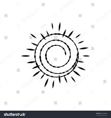 sun decor element design print tattoo stock vector 750333700