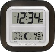 large digital wall clock battery operated we find cool