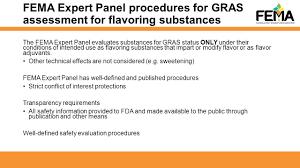the fema gras program and global flavor safety evaluation food