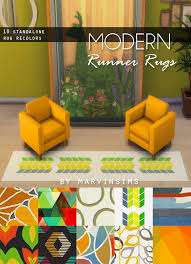 Modern Runner Rugs For Hallway Modern Runner Rug At Marvin Sims Via Sims 4 Updates Sims 4 Cc