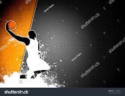 abstract color basketball man ball poster stock illustration