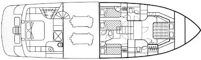 Yacht Floor Plan by Powerboat Guide Boat Reviews Specifications Reference Tool