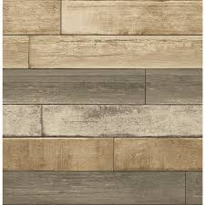 Wood Wall Covering by Shop Brewster Wallcovering Reclaimed Wheat Non Woven Textured Wood