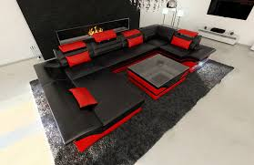 sofa mit led big leather sofa enzo with led lights kitchen dining
