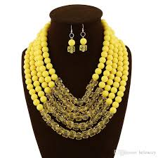 resin bead necklace images 2018 new high quality beaded necklace and earring sets accessories jpg