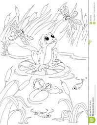 pond coloring pages printable virtren com