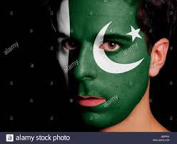 Flag Of Pakistan Pic Boy With Pakistan Flag Painted On His Cheek Lahore Pakistan