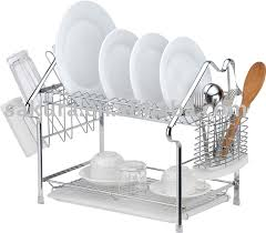 modern kitchen utensil holder furniture home infinity link design rust dish rack with cutlery