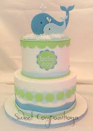 whale baby shower cake whale themed baby shower buttercream finish fondant accents