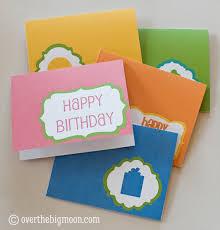 free birthday card printables