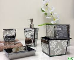 Glass Bathroom Accessories Sets Luxury Home Decor Accessories High End Mirror Glass Bathroom
