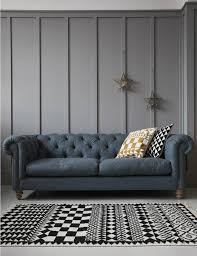 Chesterfield 3 Seater Sofa by Velvet Chesterfield Sofa By Rose U0026 Grey