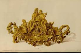 rocaille ornament and rococo style