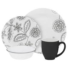 Corelle 76 Piece Dinnerware Set Corelle Vive Reminisce 16 Pc Dinnerware Set Corelle Kitchen