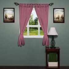 Purple Bathroom Window Curtains by Luxury Bath Collection Window Curtain Set With Tiebacks Free