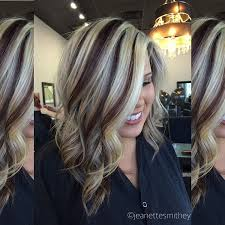 dark brown hair with blond highlights dark brown and blonde highlight and lowlights hair colors ideas