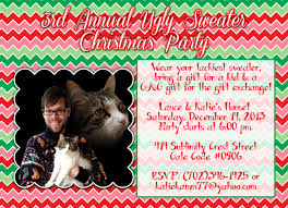 customized christmas party invite ugly sweater party fugly