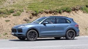all new porsche cayenne spied with very little camo