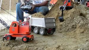 dump truck rc bruder mack dump truck youtube